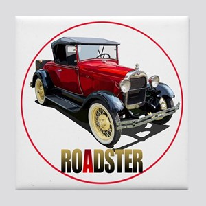 RedAroadster-C8trans Tile Coaster