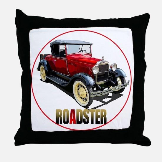 RedAroadster-C8trans Throw Pillow