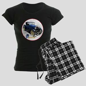 Aroadster-blue-C8trans Women's Dark Pajamas