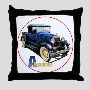 Aroadster-blue-C8trans Throw Pillow