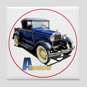 Aroadster-blue-C8trans Tile Coaster
