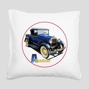 Aroadster-blue-C8trans Square Canvas Pillow