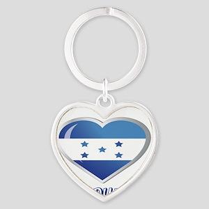 YO C HONDURAS 0 Heart Keychain