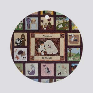 2010whole_quilt Round Ornament