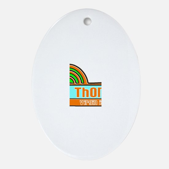 Cute St thomas usvi Oval Ornament
