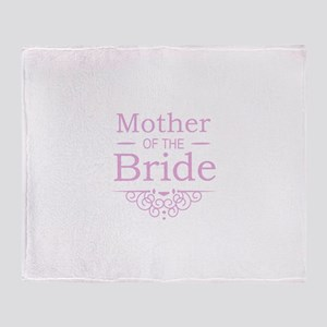 Mother of the Bride pink Throw Blanket