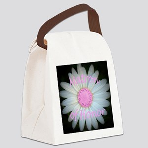 Pink daisy matron of honor Canvas Lunch Bag