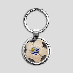 Uruguay World Cup4 Round Keychain