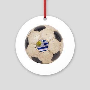Uruguay World Cup4 Round Ornament