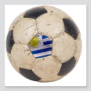 """Uruguay World Cup4 Square Car Magnet 3"""" x 3"""""""