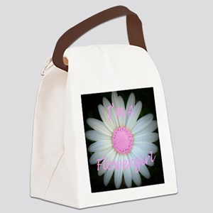 Pink daisy flowergirl Canvas Lunch Bag