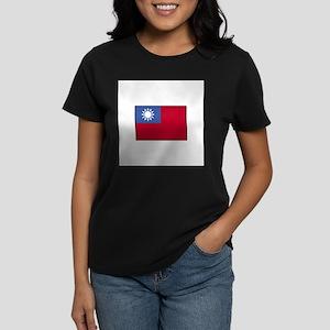 Taiwan Flag Women's Dark T-Shirt