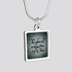 to-thy-own-self-be-true_b Silver Square Necklace