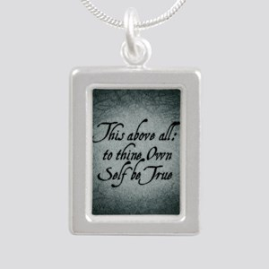 to-thy-own-self-be-true_ Silver Portrait Necklace
