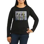 Very Good Attitude Women's Long Sleeve Dark T-Shir