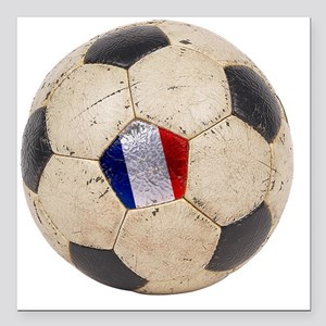 "France World Cup4 Square Car Magnet 3"" x 3"""