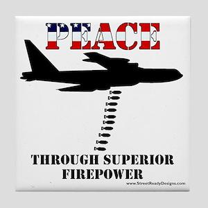 peace b52 Tile Coaster