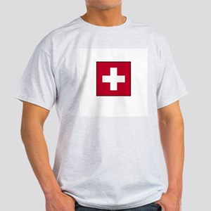 Swiss Flag - Switzerland Ash Grey T-Shirt