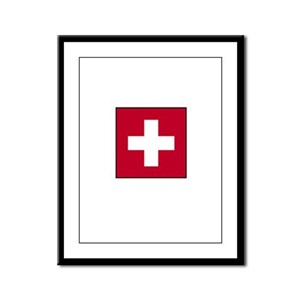Swiss Flag - Switzerland Framed Panel Print
