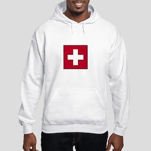 Swiss Flag - Switzerland Hooded Sweatshirt