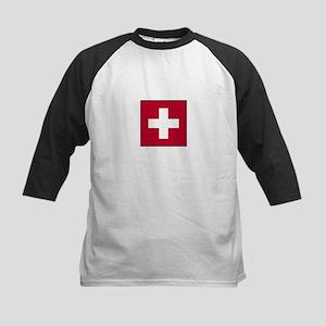 Swiss Flag - Switzerland Kids Baseball Jersey