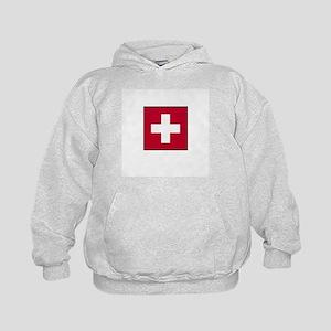 Swiss Flag - Switzerland Kids Hoodie