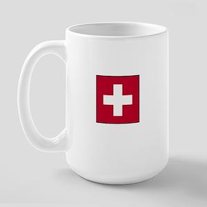 Swiss Flag - Switzerland Large Mug