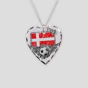 Soccer fan Denmark Necklace Heart Charm