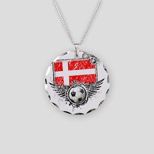 Soccer fan Denmark Necklace Circle Charm