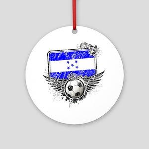 Soccer fan Honduras Round Ornament