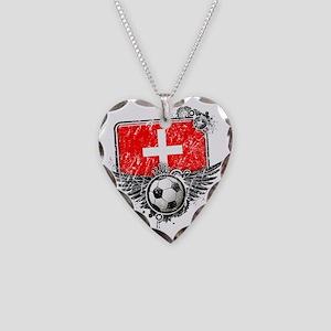 Soccer fan Switzerland Necklace Heart Charm
