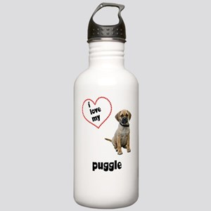 4-FIN-puggle-love Stainless Water Bottle 1.0L