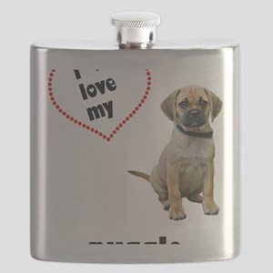 FIN-puggle-love-CROP Flask