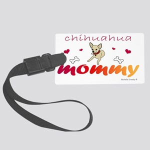 ChihuahuaFawnMommy Large Luggage Tag