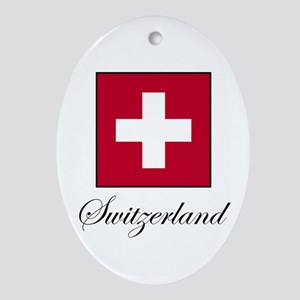 Switzerland Oval Ornament