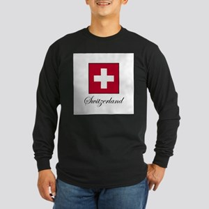Switzerland Long Sleeve Dark T-Shirt