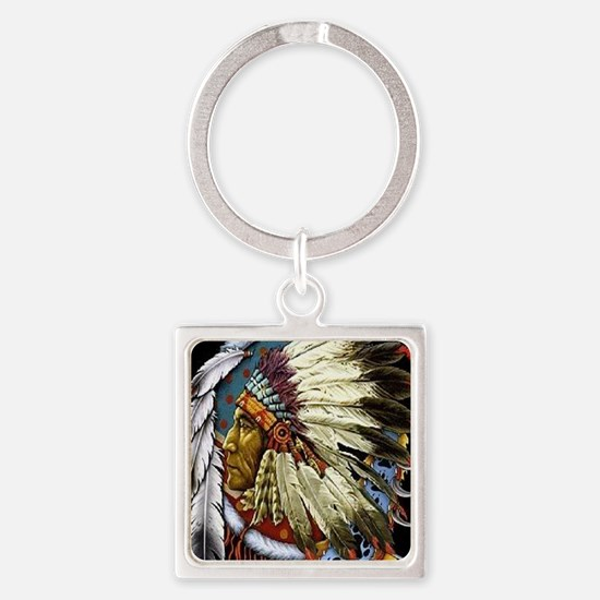 CHIEF WHITE CLOUD Square Keychain