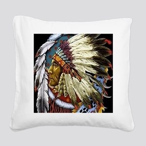 CHIEF WHITE CLOUD Square Canvas Pillow