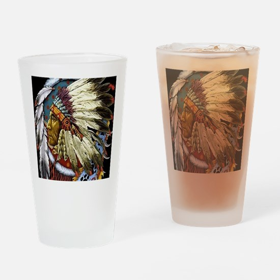 CHIEF WHITE CLOUD Drinking Glass