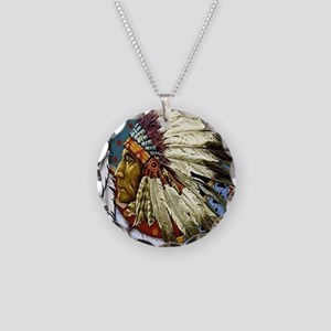 CHIEF WHITE CLOUD Necklace Circle Charm