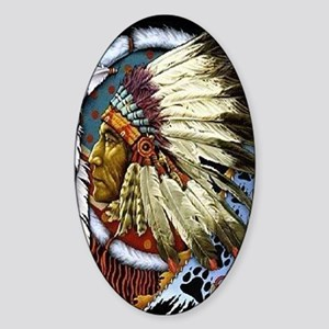 CHIEF WHITE CLOUD Sticker (Oval)