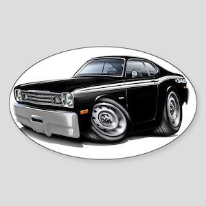 1970-74 Duster 340 Black Car Sticker (Oval)