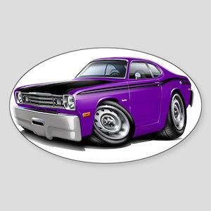 1970-74 Duster 340 Purple-Black Car Sticker (Oval)