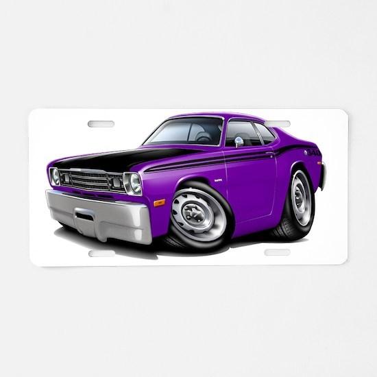 1970-74 Duster 340 Purple-B Aluminum License Plate