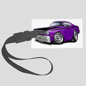 1970-74 Duster 340 Purple-Black  Large Luggage Tag