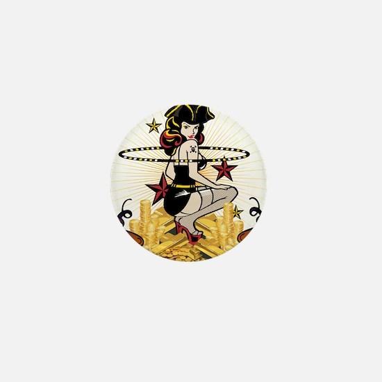 Pirate Hooper BIG Mini Button