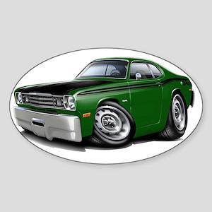1970-74 Duster 340 Green Car Sticker (Oval)