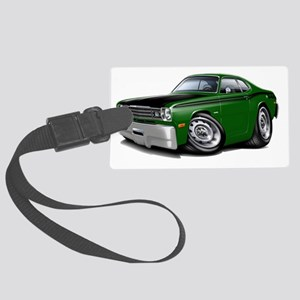 1970-74 Duster 340 Green Car Large Luggage Tag
