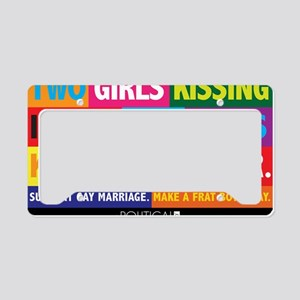 GAY_WIVESKISSING_YARDSIGN License Plate Holder