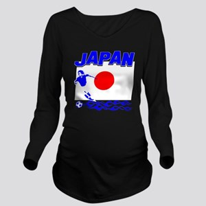 soccer player design Long Sleeve Maternity T-Shirt